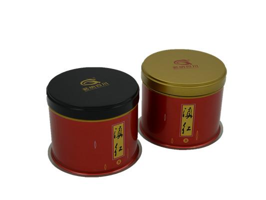 茗纳百川圆矮红罐
