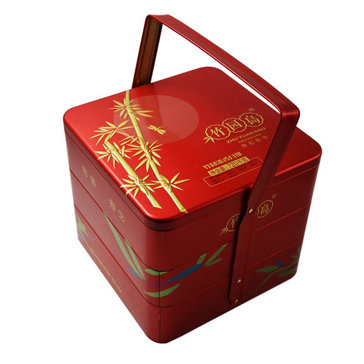 四层高档中秋月饼铁盒