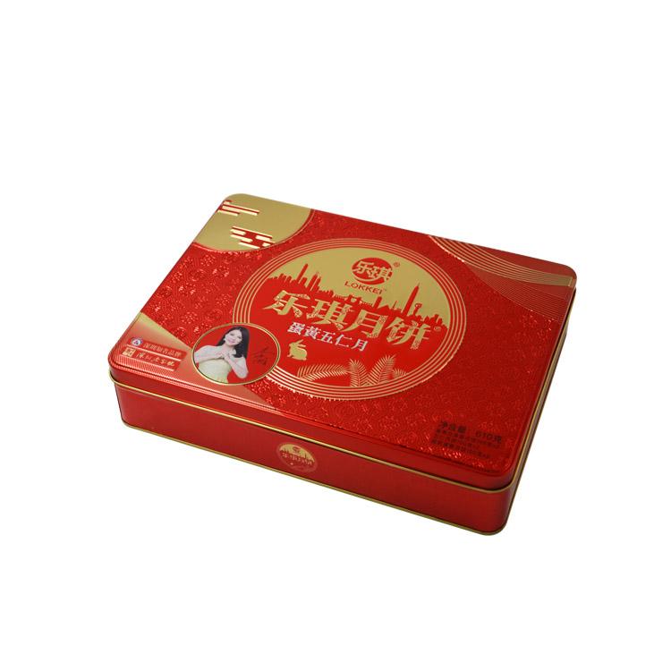 高档中秋月饼铁盒