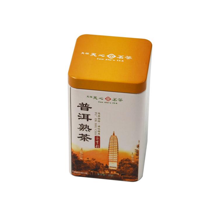 普洱茶方罐